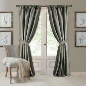 Elrene Home Fashions Versailles Faux Silk Curtains
